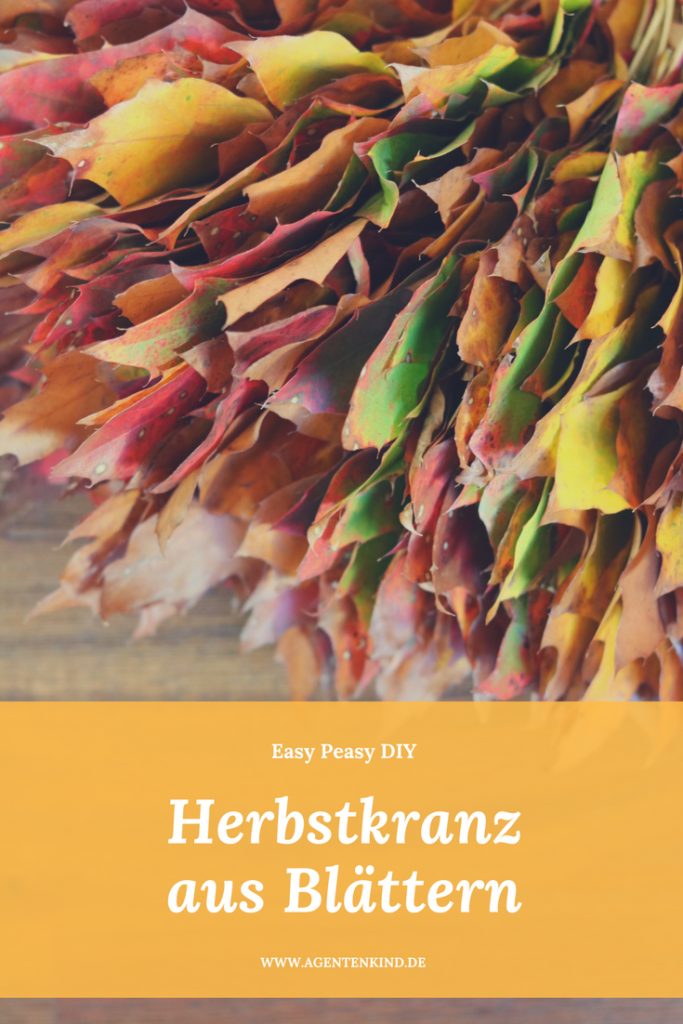 Easy Peasy Herbstkranz aus Blättern DIY