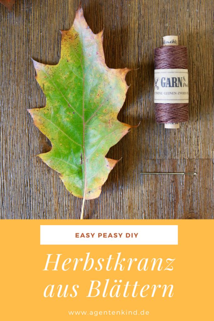 Easy Peasy Herbstkranz DIY aus Blättern
