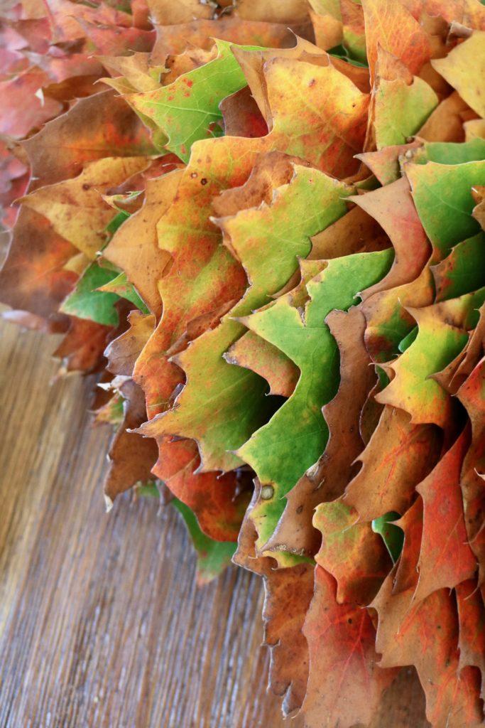 Easy Peasy Herbstkranz DIY aus Blättern - Agentenkind
