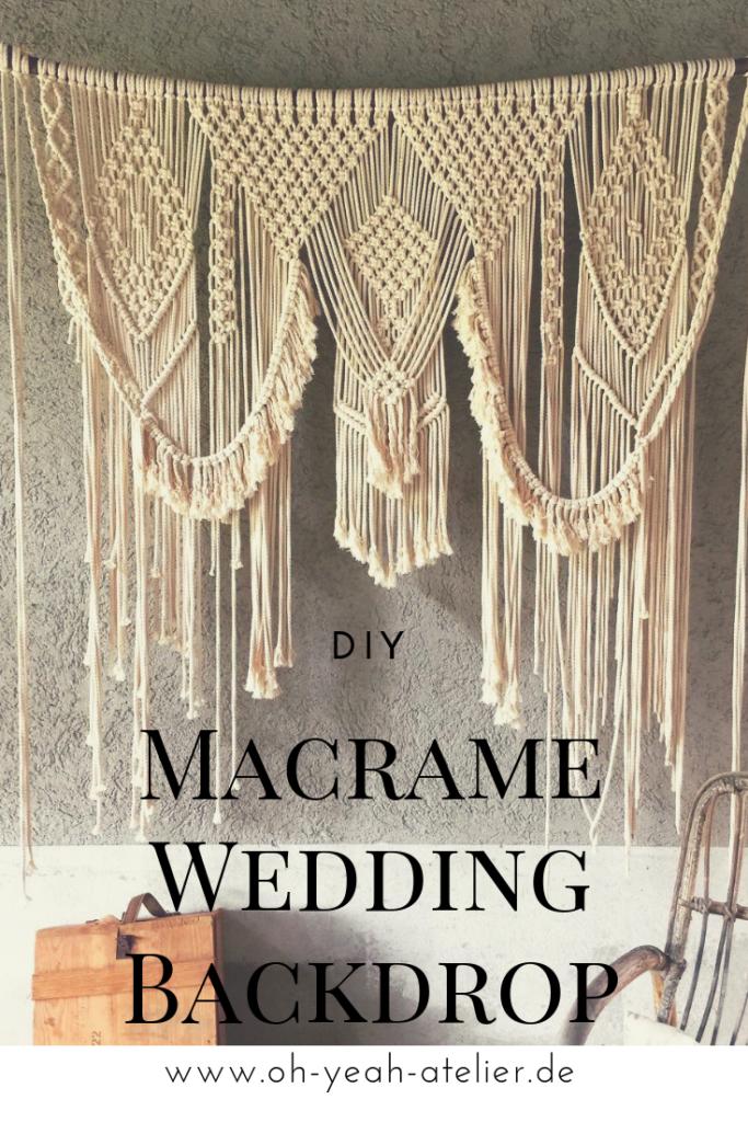 Für unsere Hochzeit wollte ich unbedingt einen Makramee Vorhang, als Wedding Backdrop. Ich habe so oft welche beim Stöbern, auf Pinterest entdeckt. #wedding #hochzeit #makramee
