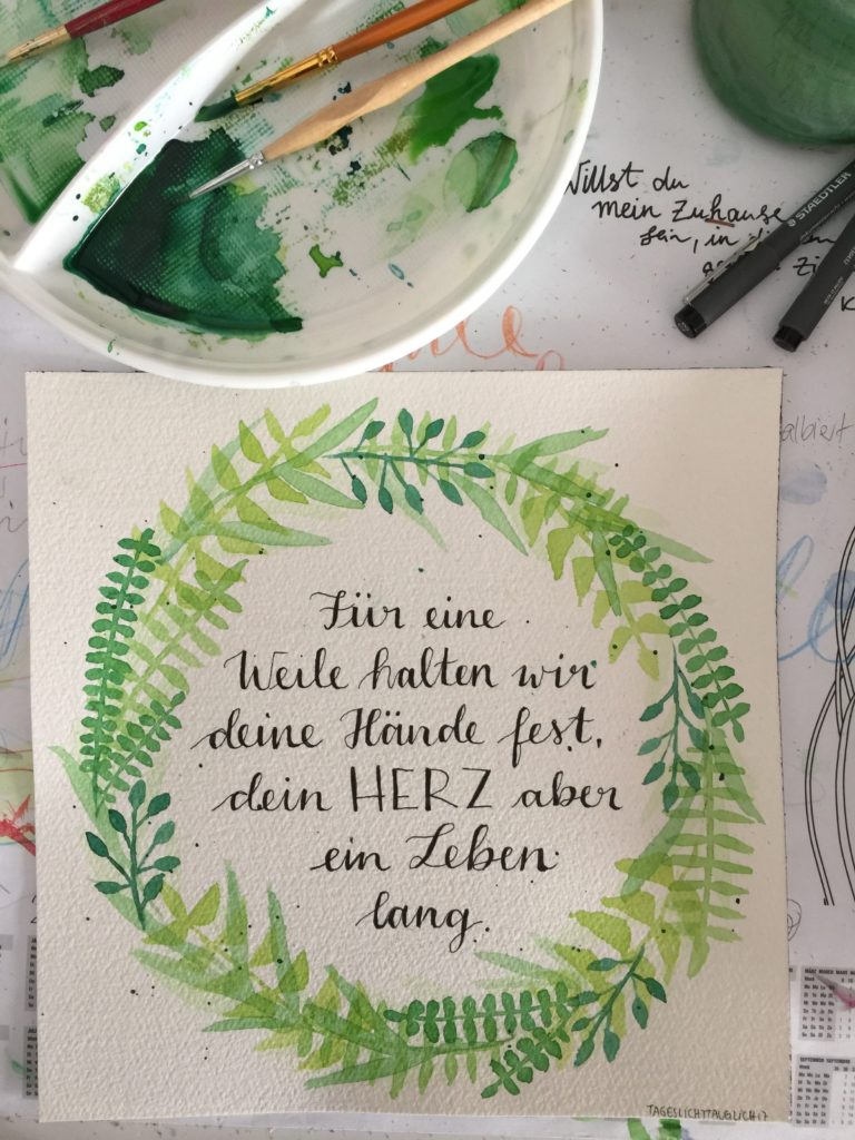 Handlettering Mixed Media Workshop 'handlettering #watercolor #mixedmedia