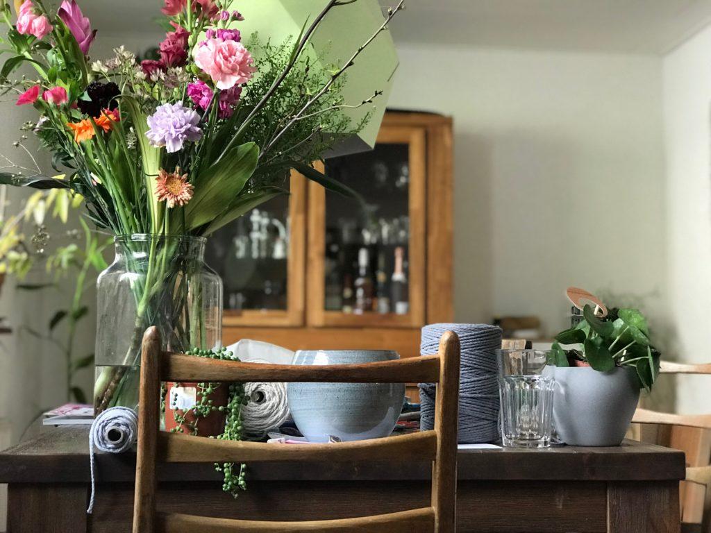 Das Wochenende in Bildern – das Atelier im Esszimmer